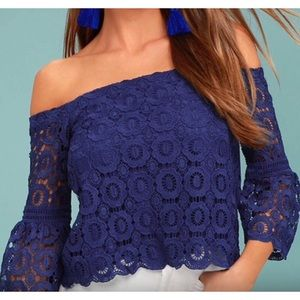 Lulu's Lace Off The Shoulder Blouse